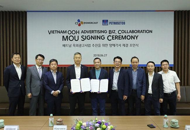 Lễ ký kết thỏa thuận hợp tác giữa Petrosetco và Công ty CJ Powercast